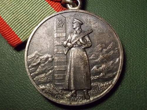 Medal for distinction in the protection of the State border of the USSR PLUS 10/15/20YEAR MEDALS