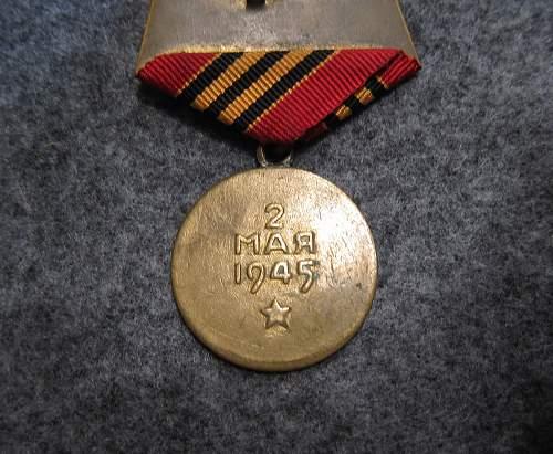 Capture of Berlin medal