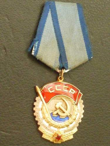 Help with a Order of the Red Banner of Labor Medal