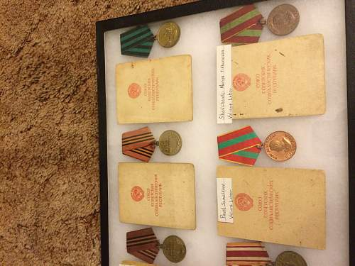 Newbie showing off medals