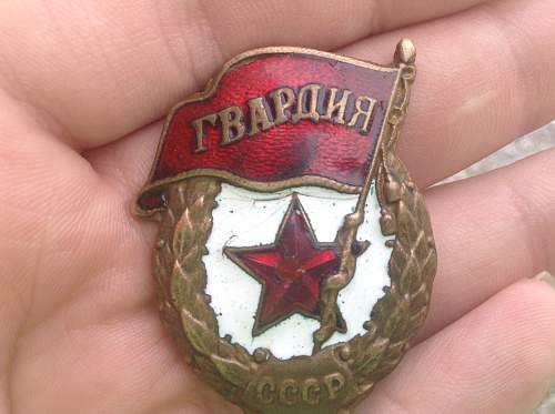 Is This Guards Badge WW2?
