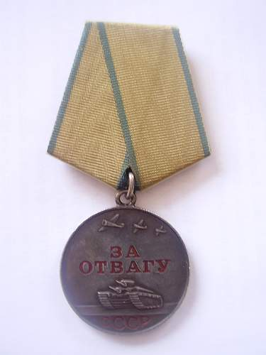 Medal For Bravery....