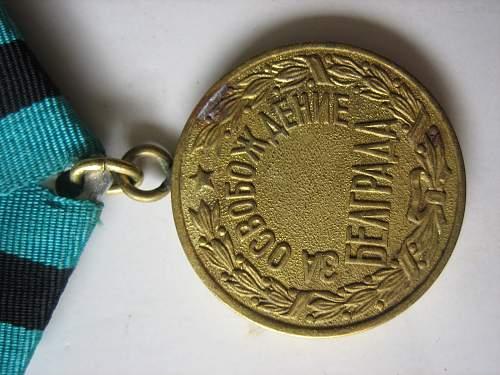 Belgrade Medal opinions