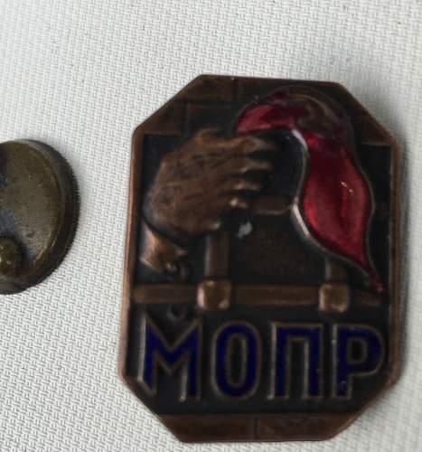 Prisoner of War Badge? MOPR