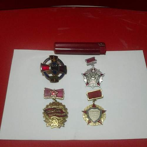 What are these soviet badges are and are they original too?