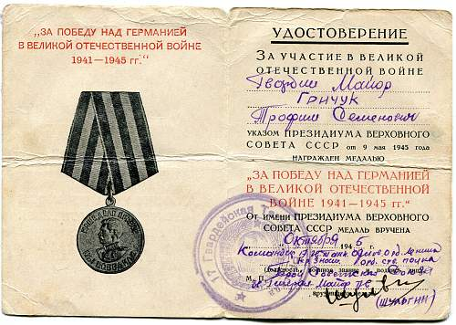 Click image for larger version.  Name:Trofim Semenovich Grichuk, Victory over Germany.jpg Views:12 Size:334.4 KB ID:888625