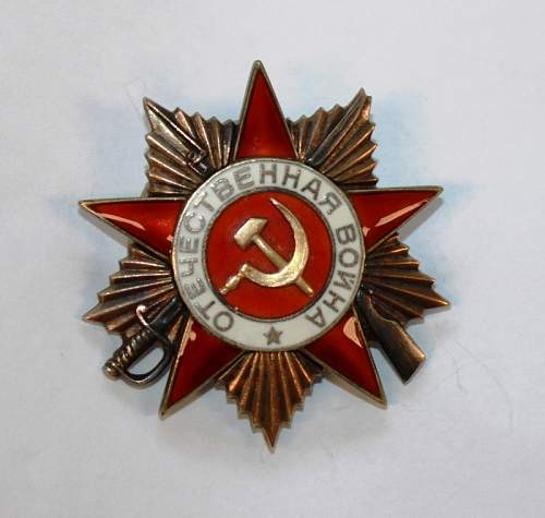 Opinions on Order of the Great Patriotic War, 1st class