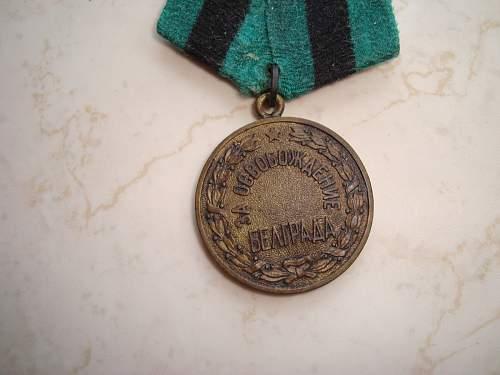 Belgrade medal