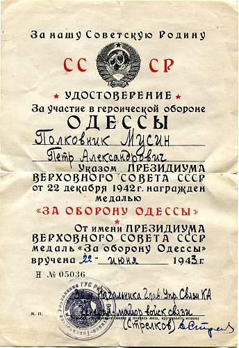 Click image for larger version.  Name:Petr Aleksandrovich Musin, Defense of Odessa.jpg Views:6 Size:337.8 KB ID:899018
