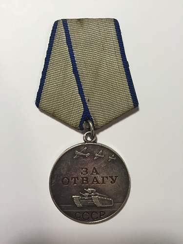 bravery, red star, battle merit medal authenticity?