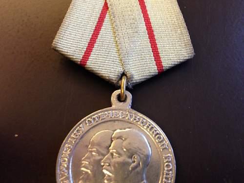 Partisan medal 1st class fake?