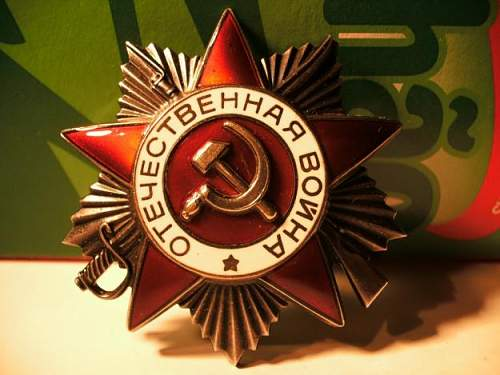 order of the patriotic war 2class-fake or real?