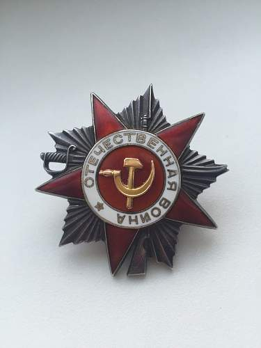 Is this an original order of the great patriotic war?