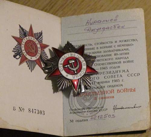 My first Soviet Medals/Order Group
