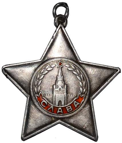 Order of Glory 3rd class - new acquisition