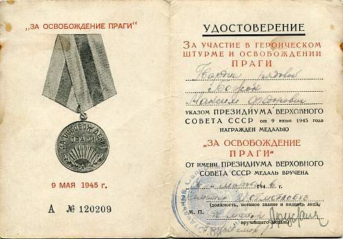 Click image for larger version.  Name:Maksim Fedorovich Bozhok, Liberation of Prague.jpg Views:13 Size:334.5 KB ID:946154