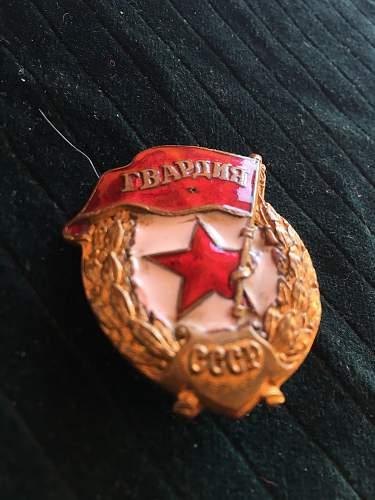 Guard badge, original WW II ?