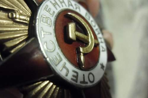 Order of Great Patriotic war 1st class, original or not ?