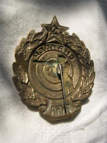 Russian Marksman badge rare or copy ?