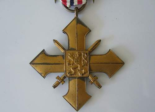 Czech War Cross 1939