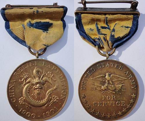 Early US Campaign Medal Group - Boxer Rebellion through WWI