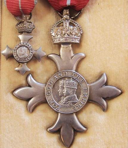 MBE Member of the British Empire (Military) WWII