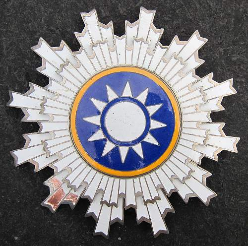 Republic of China Order of Blue Sky and White Sun