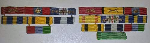 Unknown ribbon attached to a  Greek navy ribbon bar
