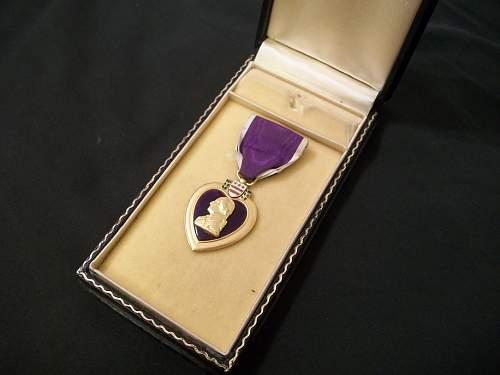 My inscribed Purple Heart