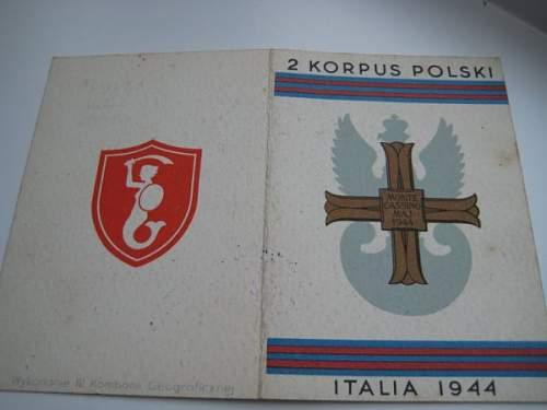 Original Monte Cassino Cross and Document???