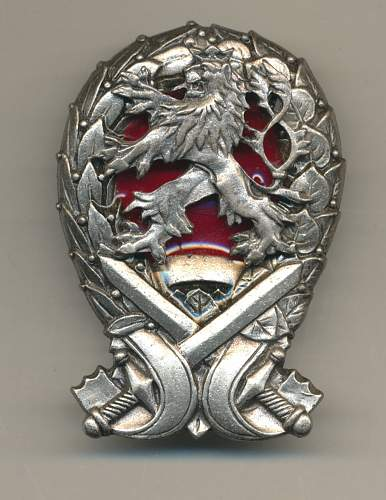 Please tell me the name of this Czechoslovak badge.