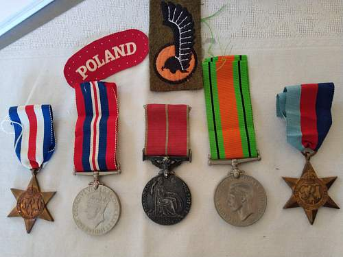Polish soldier with British Empire Medal