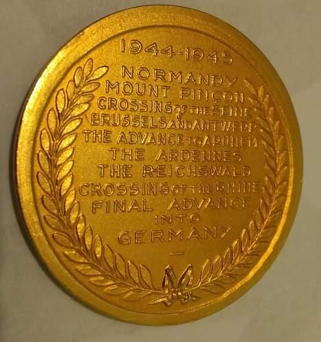 30 Corps Medallion