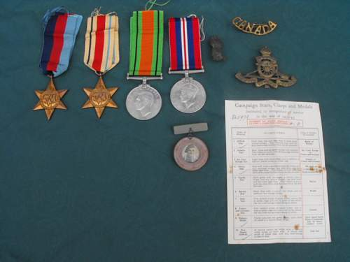 WW2 Canadian medals