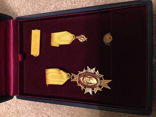 Order of Francisco de Miranda