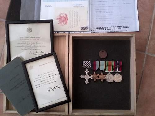 WW2 RAF DFC  & MID Medal grouping.
