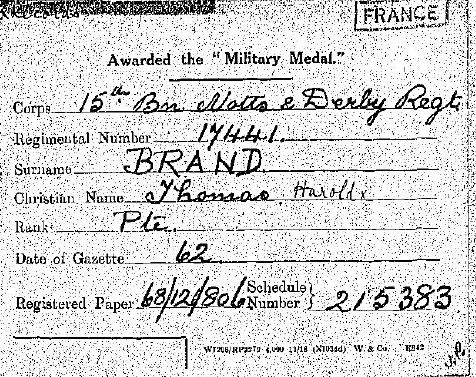 ww1 trio entitled to military medal ?????