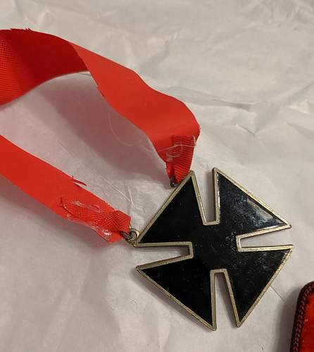 Cross Medal on a Ribbon