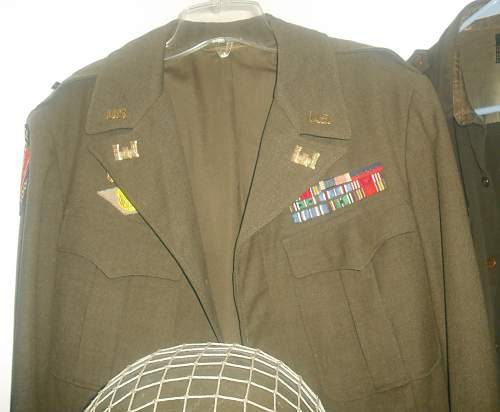 Unknown Ribbon Bar Engineers Ike Uniform
