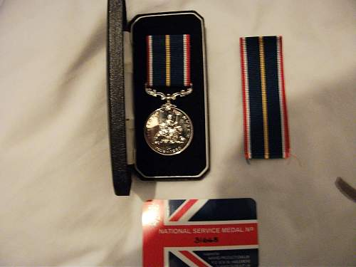 Grandads Service Medal And Miniature WW2 Medals