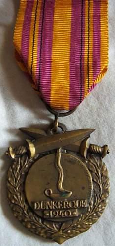 1940 Dunkirk medal + Document