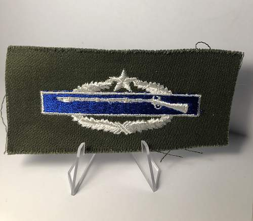 WW2 silver USA Combat Infantryman Badge