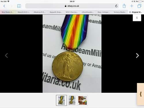 Original Victory medal?