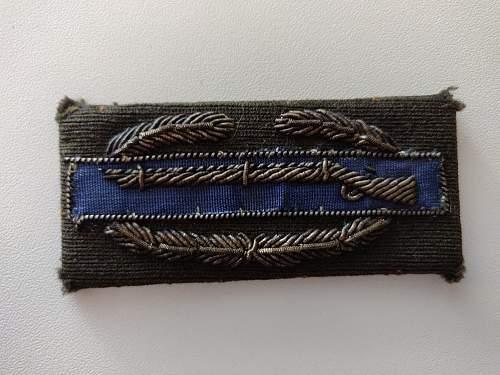 US Combat Infantryman badge