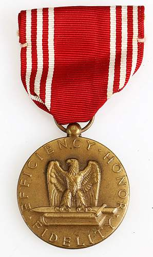 US Good conduct medal WW2 issue?