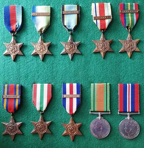 WW2 British campaign medal clasps (bars)