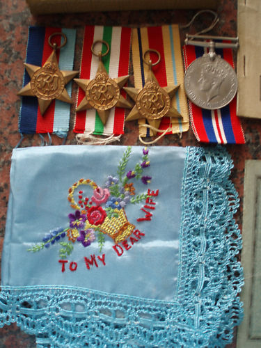 British WWII medals plus documents!!!!