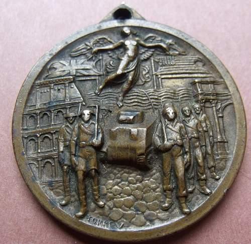 Liberation of Italy Souvenir medal