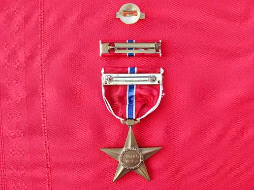 Engraved Bronze Star Question