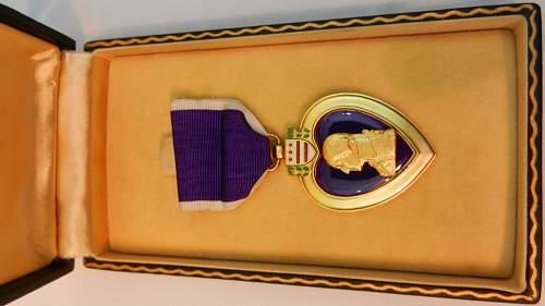 Purple Heart WW2 cased